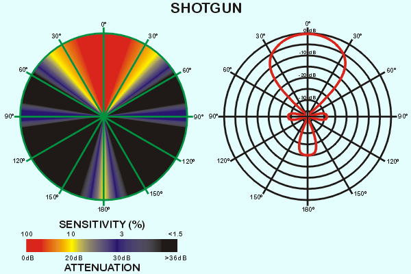 typical shotgun microphone pickup pattern